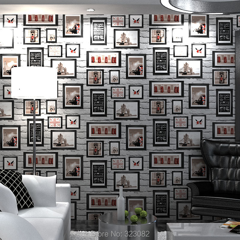 3d Brick Wallpaper Photo Frame Shape The Uk Flag 3d Wall Murals