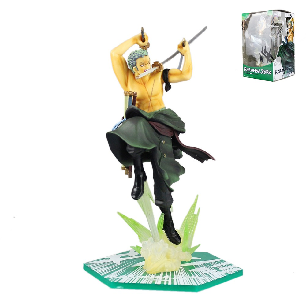 Anime One Piece Anime Roronoa Zoro Japanese Action Figure PVC 20cm One Piece Zoro Extra Batt Collectible Model Doll