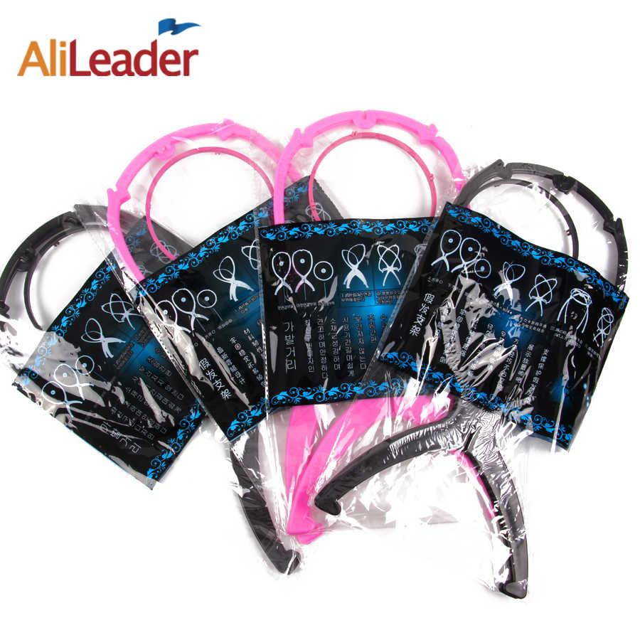 Ajustable Pruik Stands Plastic Hoed Display Pruik Hoofd Houders 1 Pc 18X36Cm Mannequin Hoofd/Stand Draagbare opvouwbare Pruik Stand Zwart Roze