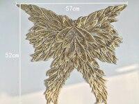 Gold Sequin Black Back Neckline Lace Collar Charming Sewing Applique Trim Costume Decoration TT335