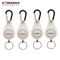 4pcs/lot Doberman Security Self Defense Alarm Personal Security Pull ring Triggered Anti attack Safety Personal Alarm