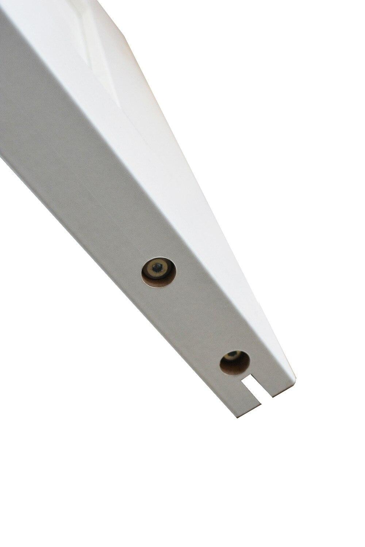 DIYHD Double X forme blanc grange porte dalle MDF solide noyau apprêté intérieur panneau de porte (démonté) - 4