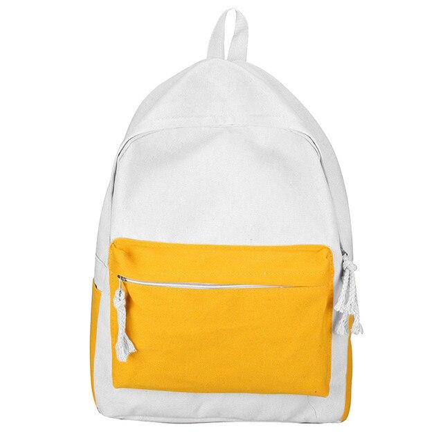 7c2453522e87 2018 Canvas Pure Color School Backpack Adolescent Girl Female Best Travel  Women Backpack Shoulder Bag Rucksack Mochila Bagpack