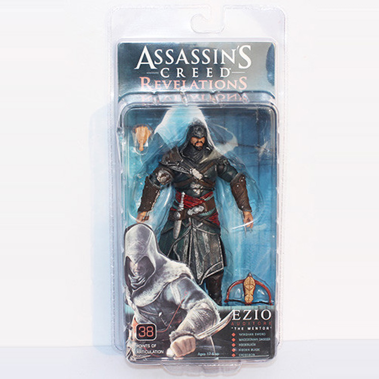 NECA Assassin Creed Revelations Ezio PVC Action Figures Dolls Toy Assassins Creed Figure pc assassin s creed unity guillotine edition
