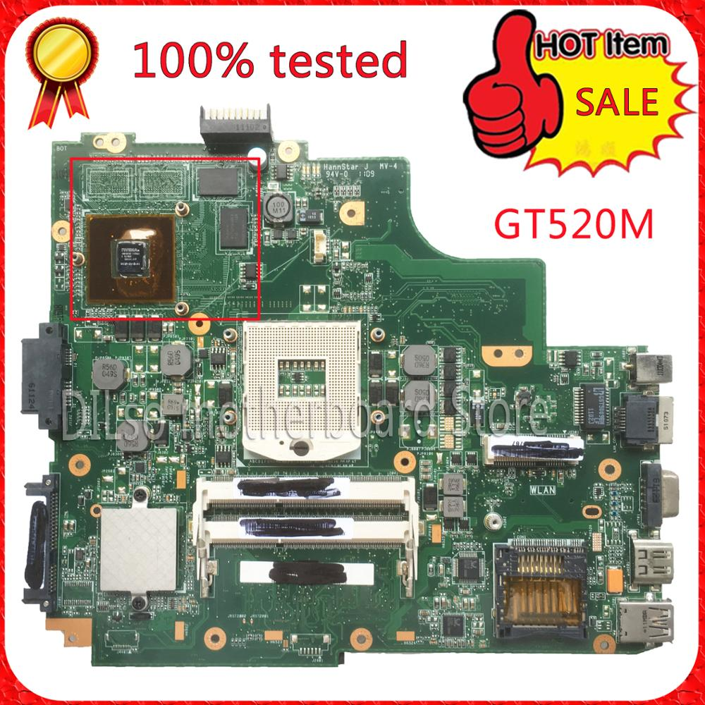 For ASUS K43SV K43SJ laptop motherboard  1G video card K43SV l new mainboard GT520M REV2.2 & rev2.0& rev3.0 &REV4.1 100% tested for asus k43sv k43sj laptop motherboard 1g video card k43sv l new mainboard gt520m rev2 2