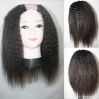 Eversilky 100% бразильский U часть парик странный прямо Remy человеческие волосы U часть Искусственные парики с бретели для нижнего белья и