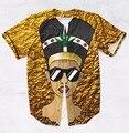 2 Цветов Настоящее США Размер Королева Нефертити Моды 3D Сублимационная Печать На Заказ Бейсбол Джерси Плюс Размер