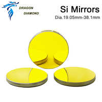 3pcs Si CO2 laser mirror Gold-Plated Silicon Dia.19.05 20 25 30 38.1mm for co2 laser cutter engraver machine mirror mount