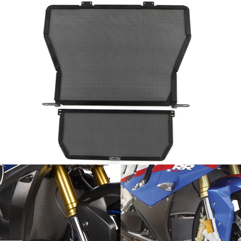 Radiator Guard Grill Oil Cooler Cover Protector For BMW S1000R S1000RR S1000XR HP4 Black 2009-2018 wholesale cnbald 1959 custom signature electric guitar with bridge bigsby 20th anniversary in black 120323