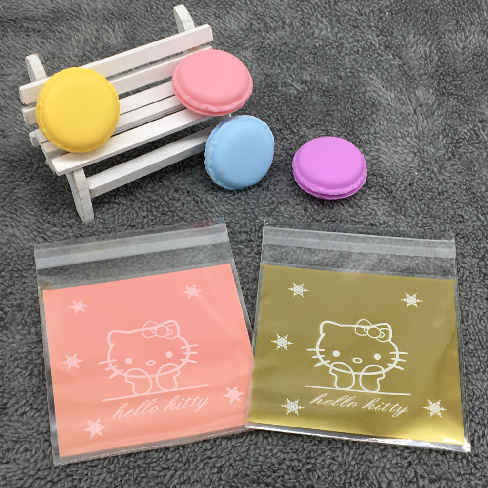 Lovely Hello kitty Candy Food Favor Packaging Bags Cookie Packaging Wedding Gift Bags 50Pcs/lot
