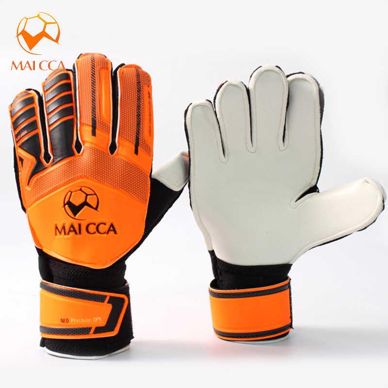 2ca09524f Hot Sports Gloves for Children/ Adult Soccer Football Training Goalkeeper  Gloves Team Game Protect Finger