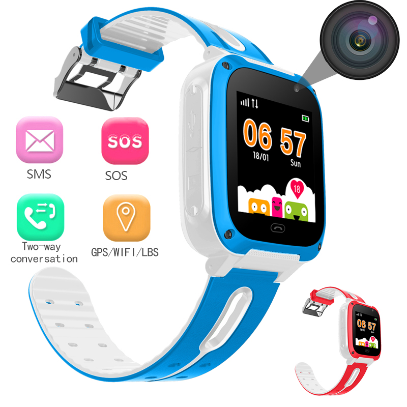 WISHDOIT LED Color Touch Screen Children SmartWatch LBS Positioning Tracker Kids Watches SOS Security Baby Watch Support SIM