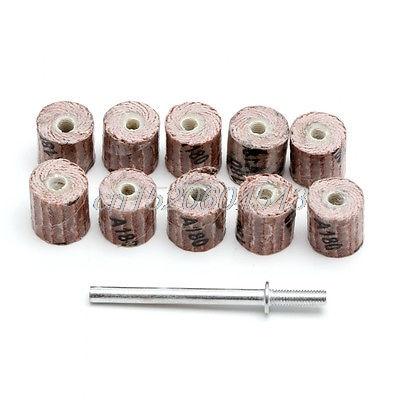 10pcs 240 Grit Sanding Sandpaper Flap Wheel Set 3 8 Quot For