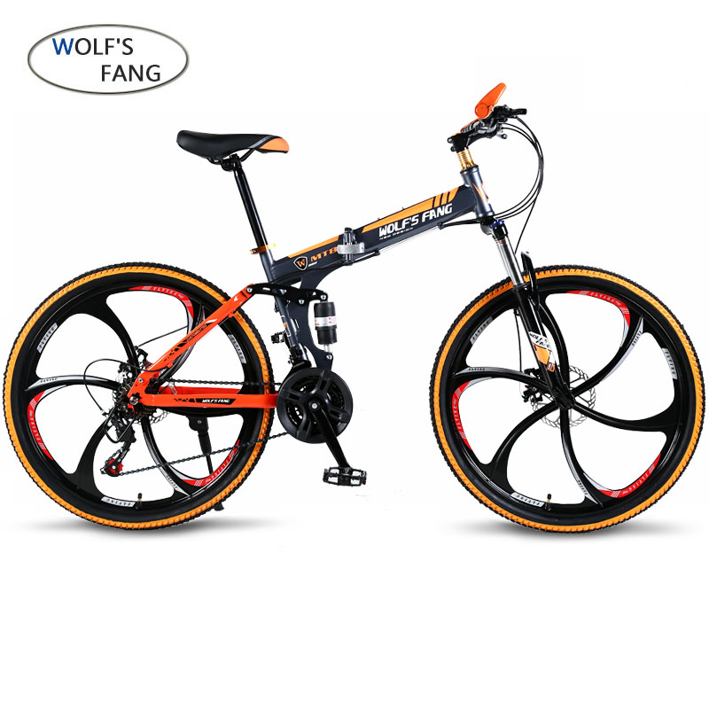 """wolf's fang  Bicycle folding Road Bike 21 speed 26""""inch mountain bike brand bicycles  Front and Rear Mechanical Disc Brake bike