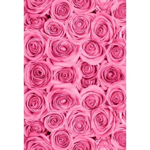 8x8ft Indoor Antico Caldo Rosa Fiori Parete Modello Personalizzato