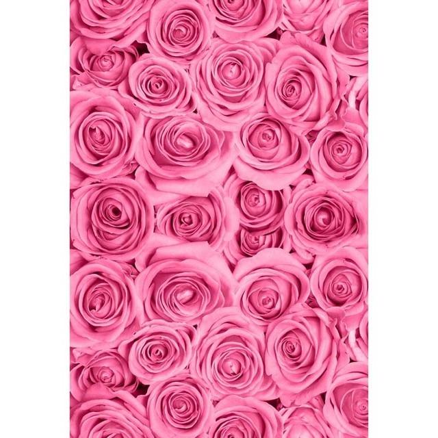 8x8ft Ruangan Antik Hot Pink Bunga Pola Dinding Pernikahan Kustom