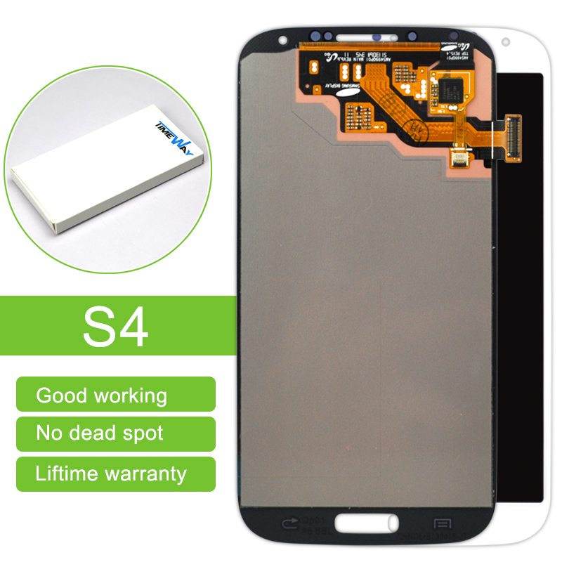 ФОТО Top Fashion Sale 2 Pcs For Samsung S4 I9500/i9505 Lcd Display Touch Screen Digitizer Assembly Blue/black/white Free Shipping