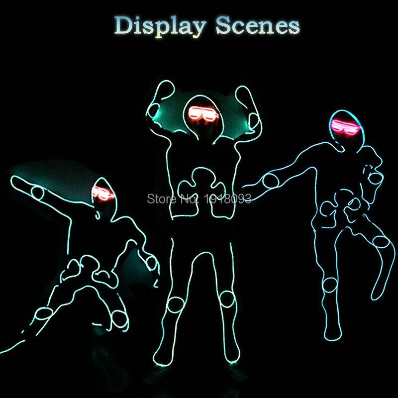 Fantôme danse rougeoyante bricolage vêtements EL costume LED bande matériel nouveau Design produit brillant