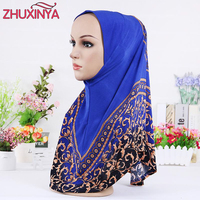 11 Color Muslim Hijabs Hot Sale Pattern Of Printed Scarf Wrapped Head Scarf Of Women Hijabs