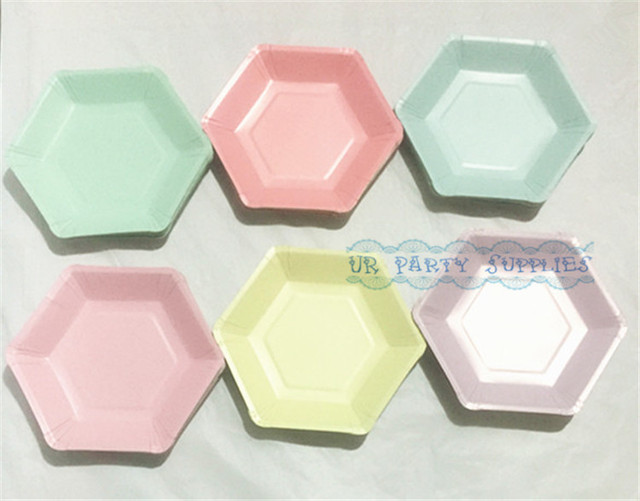 200pcs 7\  (18cm) Solid Color Paper Pan Disposable Food Tray Wedding Birthday Paper & 200pcs 7\