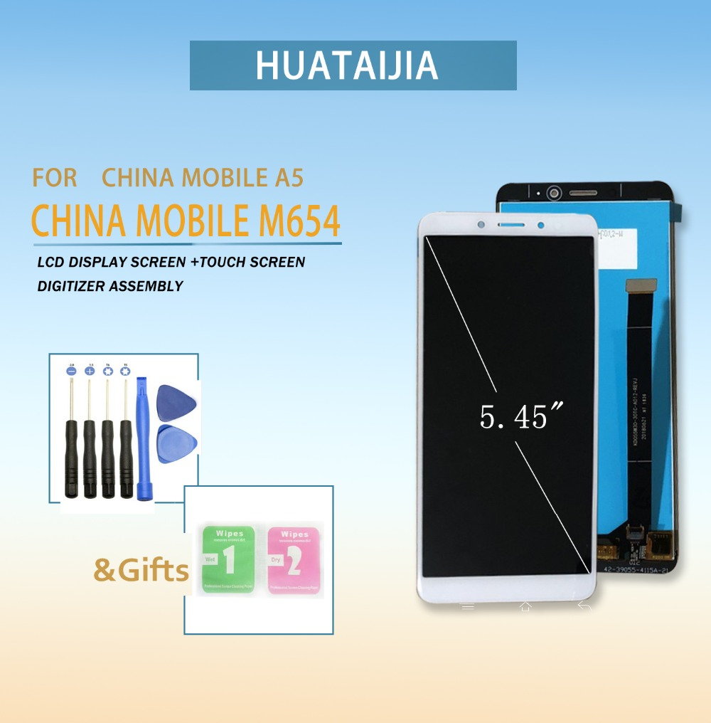 LCD Screen For china mobile m654 Touch screen digitizer Sensor With LCD Display for china mobile A5 Full Assembly Replacement
