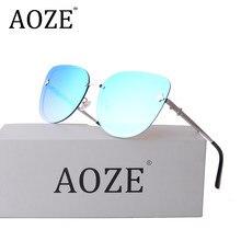 2018 Marca mulheres designer de óculos de lente azul Gradiente rosa Roxo  Aviato Vindima mulheres Da Menina óculos de sol com cas. 960831acbb