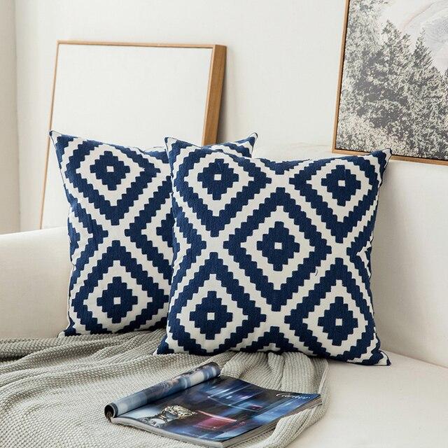 Home decor embroidered cushion cov