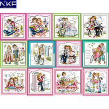 NKF Romantic Love Counted Cross Stitch Embroidery Sets 11CT