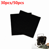 30pcs 50pcs Activated Carbon Filter Sponge For Hakko 493 Solder Smoke Absorber ESD Fume Extractor 13cm