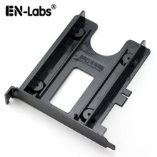 "En-Labs PCIe / PCI Slot 2.5"" HDD/SSD Mounting Bracket - 2.5"" HDD to PCI Slot Rear Panel Hard Drive Adapters - Black(China)"
