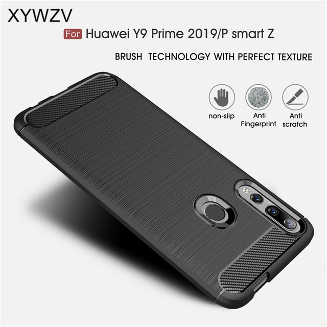 For Huawei P Smart Z Case Armor Protective Soft TPU Silicone Phone Case For Huawei P Smart Z Back Cover For Huawei P Smart Z