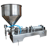220V Commercial Stainless Steel Semi Automatic Peanut Butter Chili Sauce Filling Machine Jam Filling Machine 5