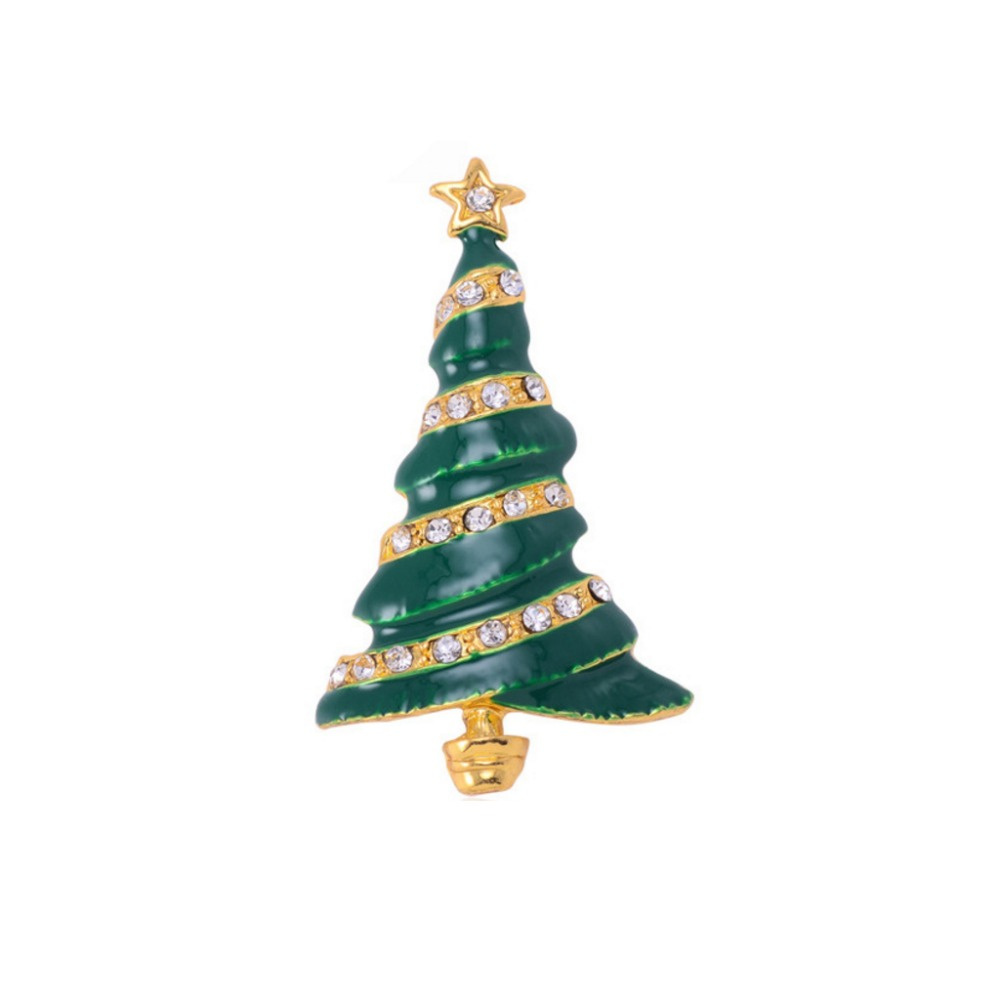 Fashionable Christmas Tree Brooches For Women Vintage Broches Mujer ...