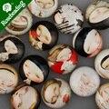20 мм стеклянный кабошон с круглым узором, смешанные рисунки с героями мультфильмов для девочек, плоская задняя часть, толщина 5,5 мм, продано ...