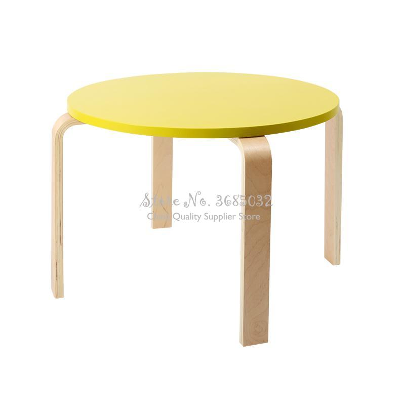 D,Fashion Creative Children's Table & Chair Solid Wood Kids Furniture Change Shoe Stool Multicolor Toddler Chairs