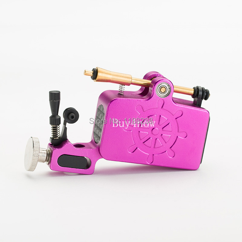 Newest Tattoo Gun Aluminium Captain Rotary Machine Liner Shader TATy High Quality Rose Red for tattoo kit Free Shipping professional 1 bottle tattoo ink for lining and shading newest tribal liner shader pigment black newest 249ml drop shipping