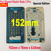 Font Middle Frame Housing For Xiaomi Redmi Note 3 International Pro SE Special Edition 152mm Gray