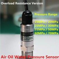 Overload Resistance 10 28VDC 4 20mA Water Supply Pressure Sensor 15 20 25 30 35 50