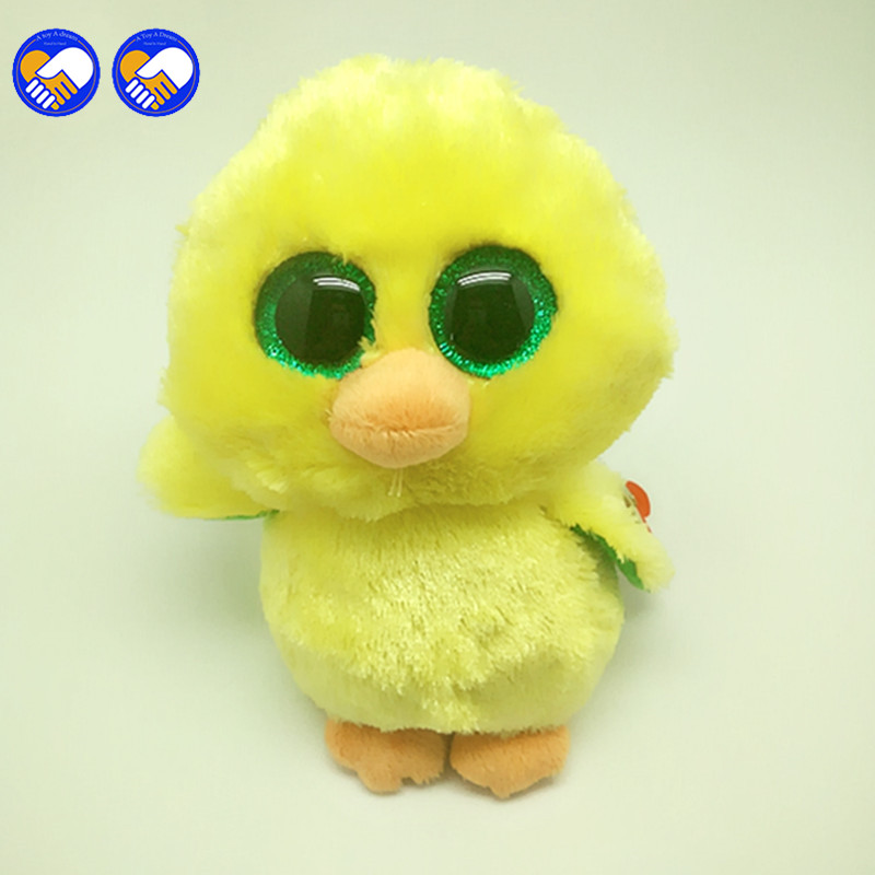 A toy A dream Ty Beanie Boos Yellow penguin 6inch Big Eyes Beanie Baby  Plush Stuffed Doll Toy Collectible Soft Plush Toys Kids e2af081ee37
