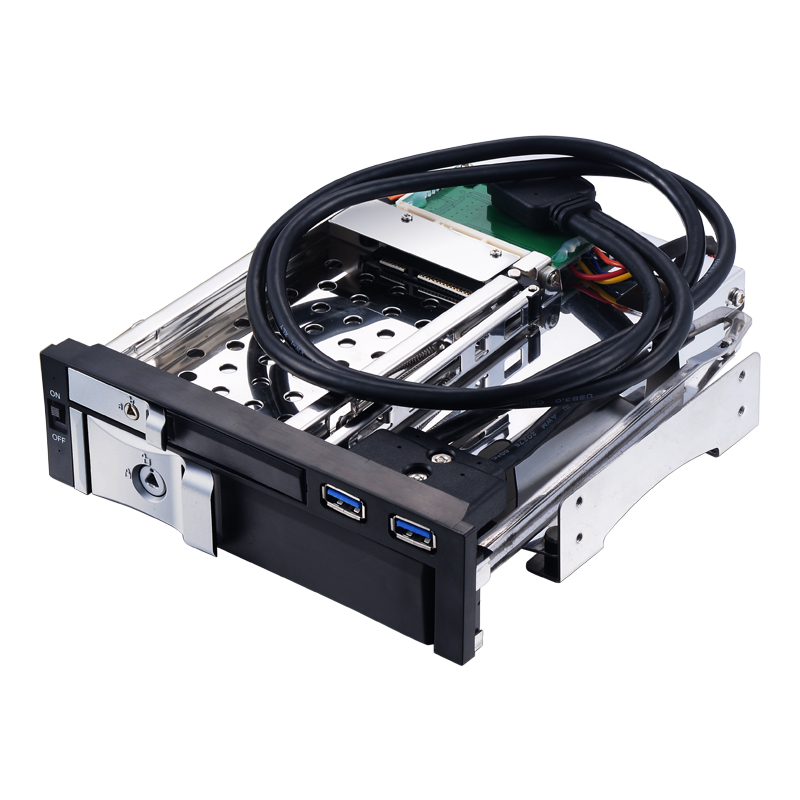 Uneatop ST7226U 2.5+3.5 inch Dual Bay 2-bay SATA HDD Rack Enclosure 4 bay 2 5 inch internal sata hdd ssd aluminum mobile rack with hot swap support 7mm 9 5mm 15mm hdd ssd enclosure with lock