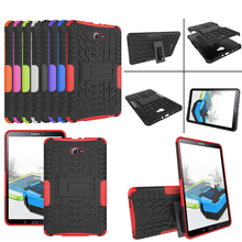 T580 Heavy Duty Silicone Hard Case Cover Protector Stand Tablet For Samsung Galaxy Tab A 10.1 2016 T585 T580 SM-T580 Y4A36D