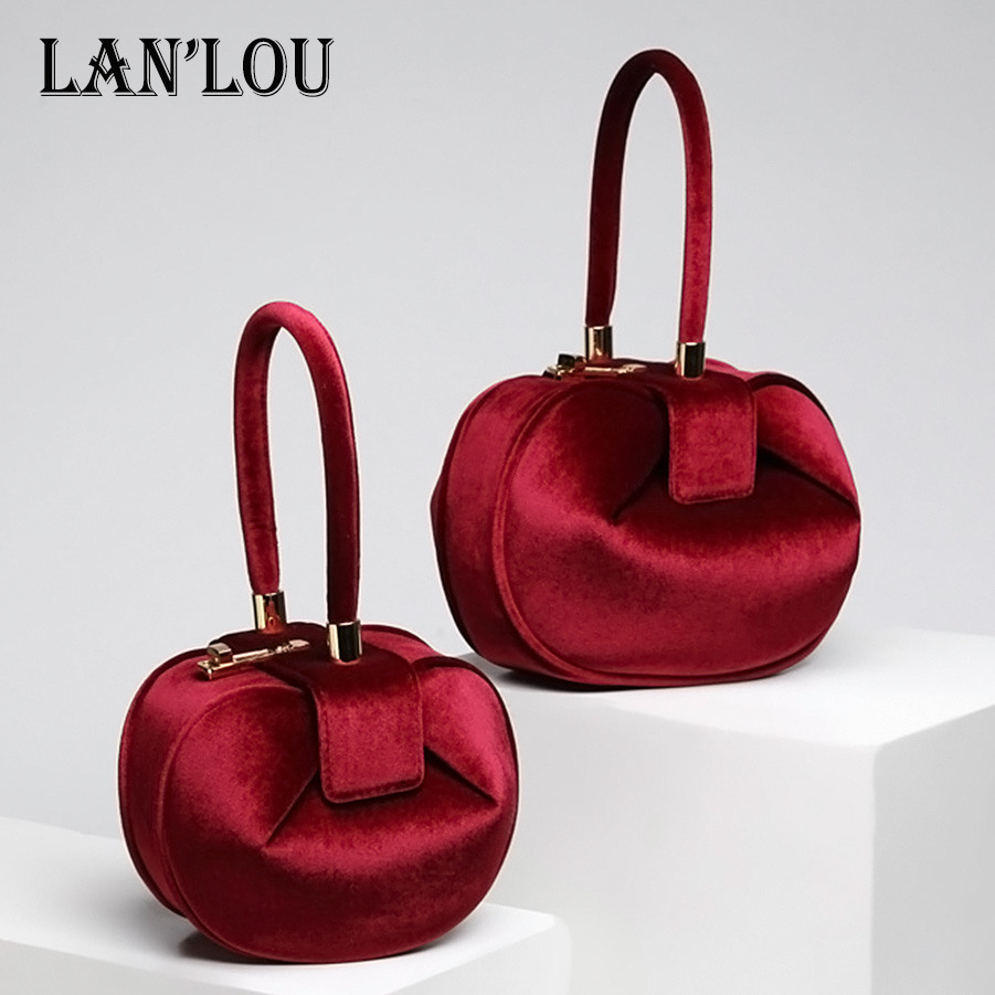 LAN LOU fashion HandBags Luxury brand velvet Bags for women 2018 Shoulder bag New European and