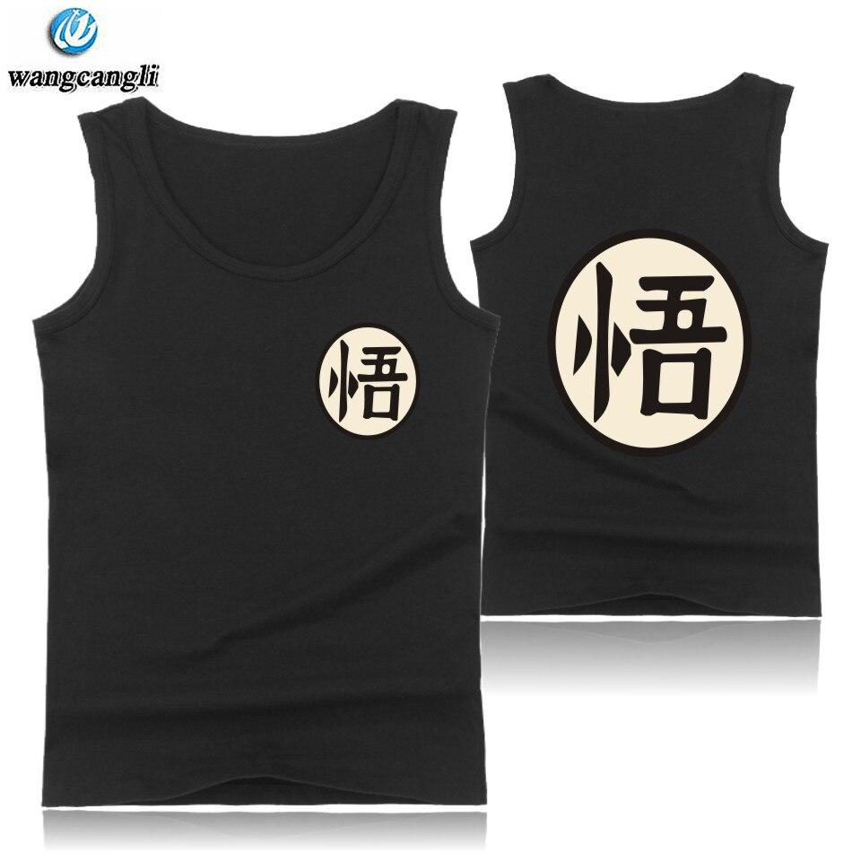 Animation Dragon Ball Naruto Fitness   Tank     Tops   Summer Vest o neck Casual Sleeveless Shirt Cotton Design Bodybuilding   Tank     Top