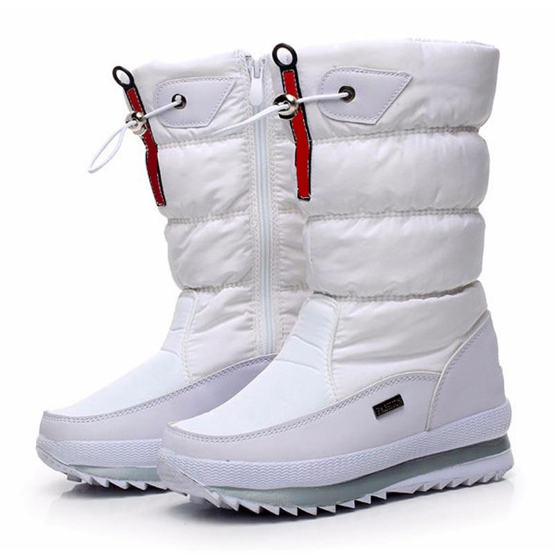 Hoge kwaliteit damesschoenen 2018 nieuwe antislip waterdichte platform snowboots witte vrouwen winter schoenen