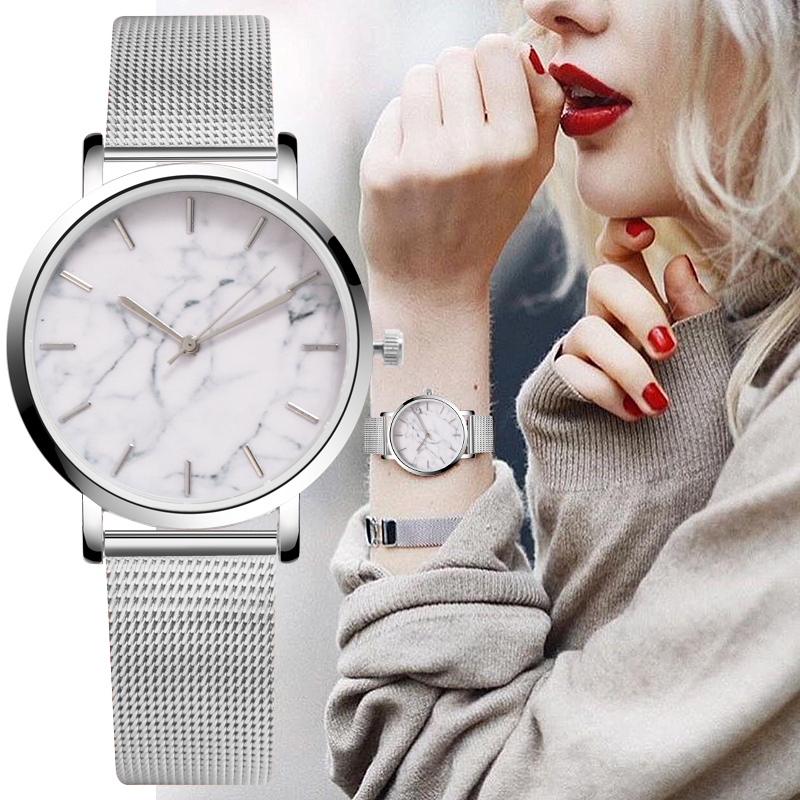 Dress Watches Clock Stainless-Steel Reloj Ladies Luxury Brand Mujer