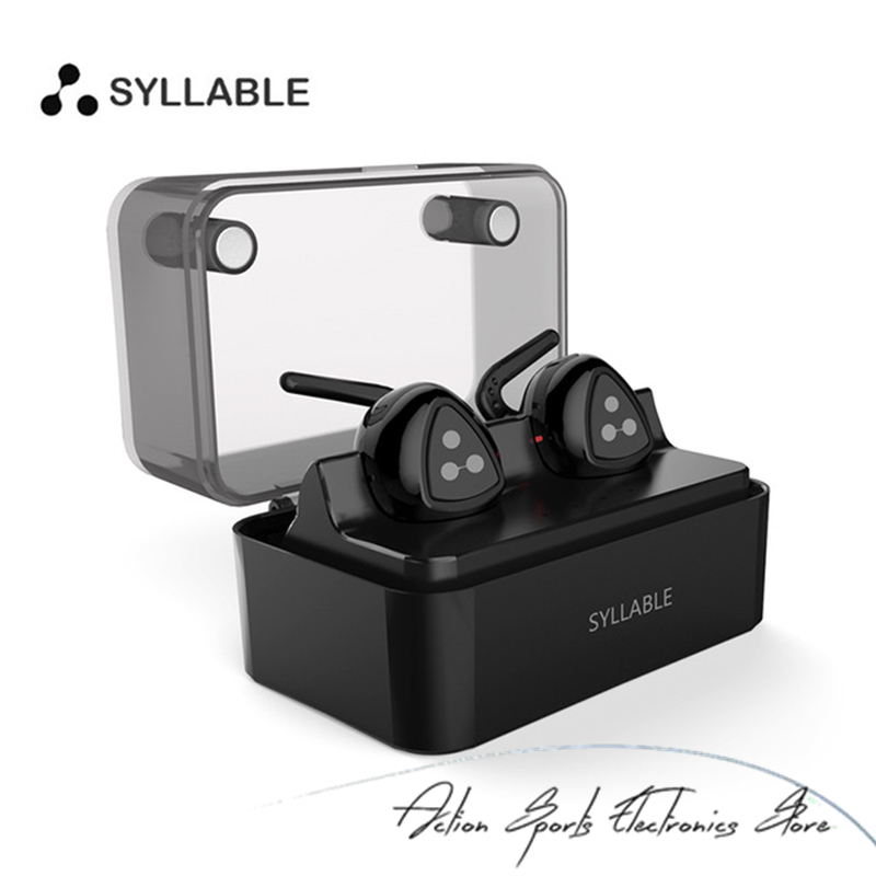 Syllable D900 MINI Wireless Bluetooth V4.1 Earphones Stereo Mini Earbud with Charging Station Bluetooth Earphones for iPhone 7 2017 scomas i7 mini bluetooth earbud wireless invisible headphones headset with mic stereo bluetooth earphone for iphone android
