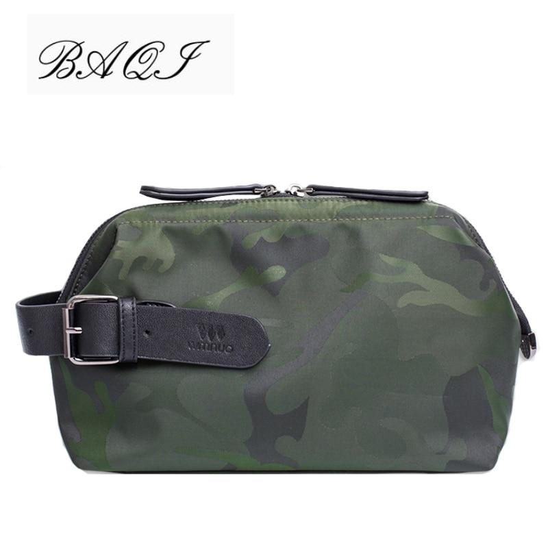 BAQI Brand Men Handbags Men Clutch Bag Wallet Oxford Cloth Waterproof Camouflage 2019 Fashion Designer Men Ipad Phone Bag Casual