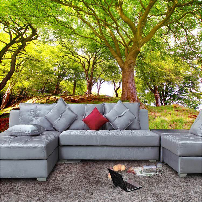 Custom 3D Photo Wallpaper Forest Tree Nature Landscape Wall Mural Wall Painting Living Room Sofa Bedroom TV Background Wallpaper large mural living room bedroom sofa tv background 3d wallpaper 3d wallpaper wall painting romantic cherry