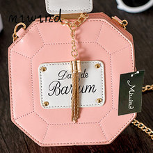 2018 new women bag clutch chain bags perfume bottle women messenger bags purse evening bag high quality pouch(China)