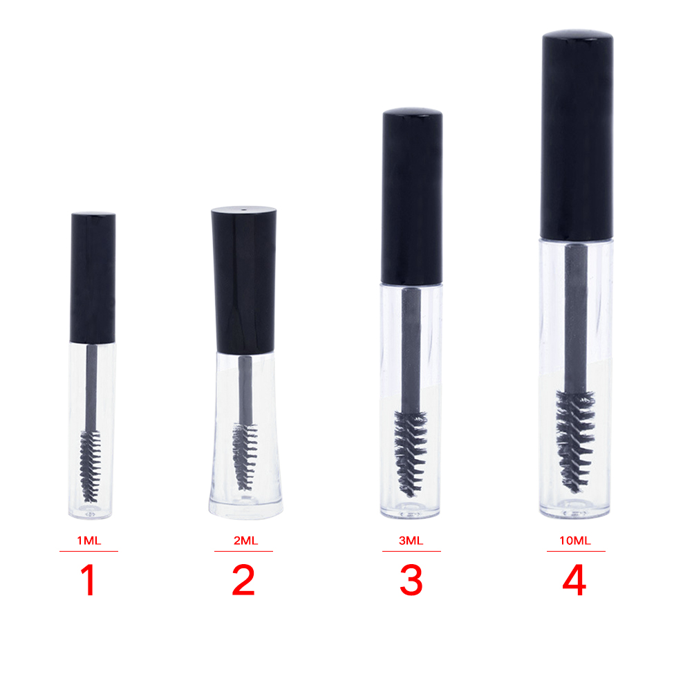 1/2/3/10ml Refillable Bottle Dispenser Easy Clean Eyelash Cream Portable Transparent Makeup Tool Mascara Container Empty Tube